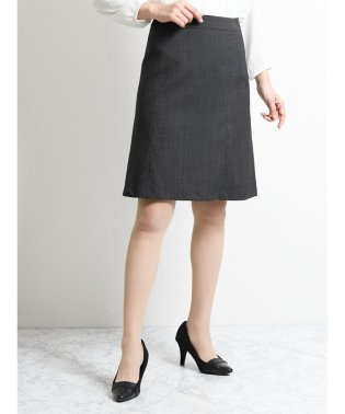 ストレッチ セットアップフレアースカート 黒ジャガード