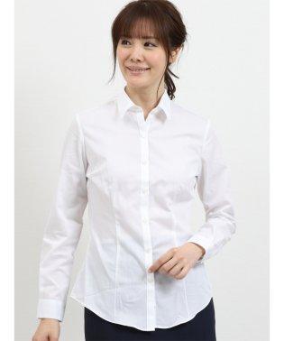 形態安定レギュラーカラー長袖ツイルシャツ
