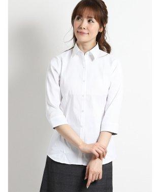 形態安定ストレッチ レギュラーカラー7分袖シャツ