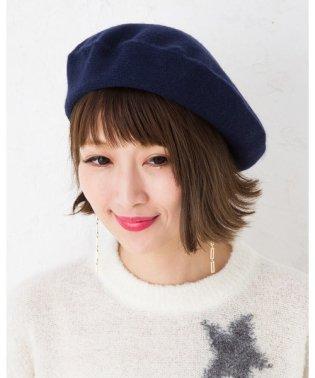 カシミヤ100%ベレー帽(tiedeur)