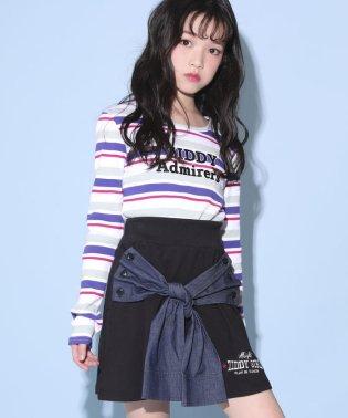 【カタログ掲載】ミニ裏毛シャツ腰巻風スカート