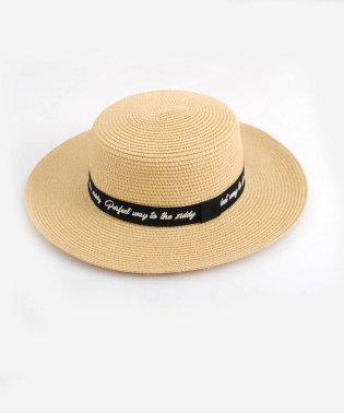 【ニコプチ掲載】ロゴ刺繍ペーパークラフトカンカン帽