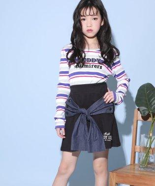【カタログ掲載】テレコマルチボーダーロゴ刺繍Tシャツ
