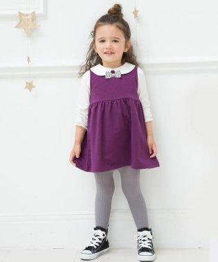 リボン付きジャンパースカート(70cm~90cm)