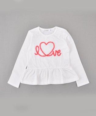 天竺チュール刺繍Tシャツ