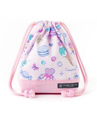 巾着 小 コップ袋 ミルキースイーツのキャンディアラモード×オックス・ピンク