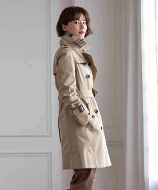 ◆◆<100年コート>ショートダブルトレンチ三陽格子コート