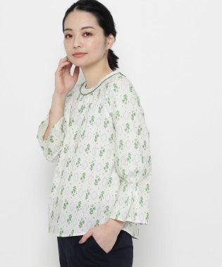 【洗える】ハーブプリントエンブロイダリーシャツ