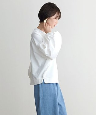 バルーン袖異素材スウェット