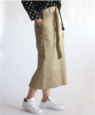 【別注】Dickies×UncutBound / ディッキーズ×アンカットバウンド ベルト付きタイトスリットスカート