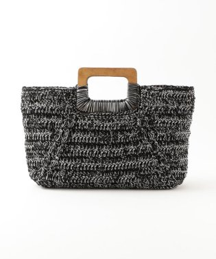 【CACHELLIE】WOOD HANDLE KNIT TOTE