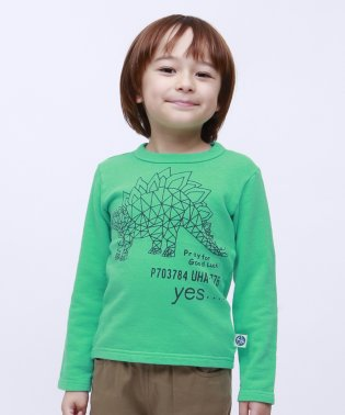ミニ裏毛ティラノザウルスロングTEE
