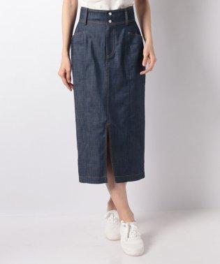 【セットアップ対応/洗える】ダブルスラブシャンブレースカート