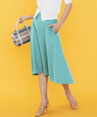 ≪大きいサイズ≫【洗濯機可】リプセツイルフレアスカート