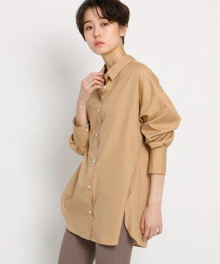 【洗える】ポプリンシャンブレービッグシャツ