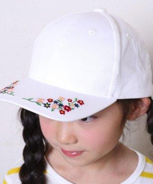 花刺繍リボンキャップ