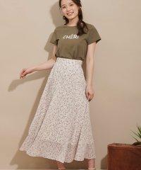 ミニフラワーマキシスカート