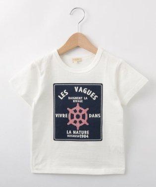 【80-140cm】マリンテイストTシャツ