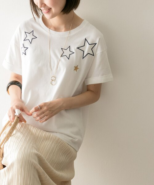 【WEB限定】ランダムスター刺繍Tシャツ