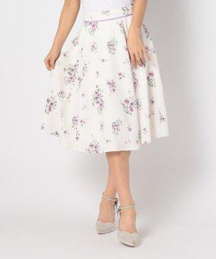 花柄マチフレアースカート