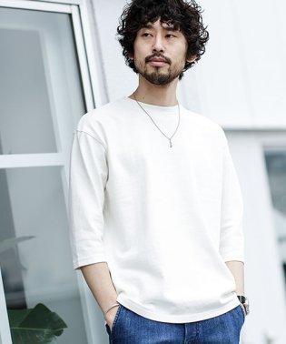 【WEB限定】ピグメント加工ビッグシルエット七分袖Tシャツ