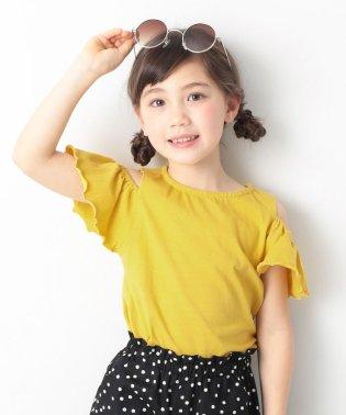 オフショルダーTシャツ 女の子