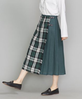 <O'NEIL of DUBLIN>リネンミックスキルトスカート
