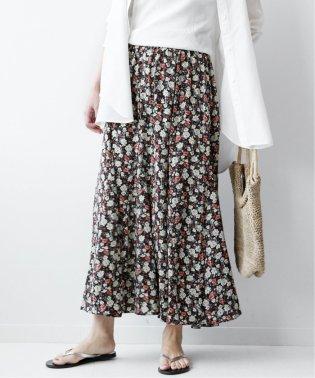 《追加5》フラワープリント マーメイドスカート◆