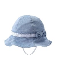 ダンガリーのレースリボン帽子(44~54cm)
