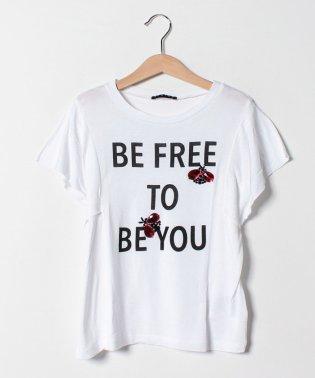 バグズスパンコール半袖Tシャツ・カットソー