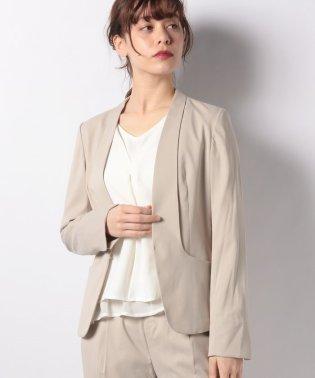 【セットアップ対応商品】ギャバカラーレスジャケット