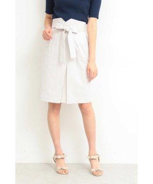 ◆フロントプリーツリボンタイトスカート