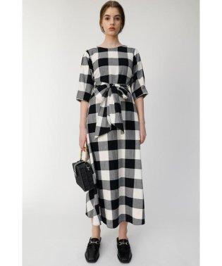 BLOCK CHECK ドレス