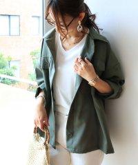 【U-3】ストレッチ ステンカラー シャツ ジャケット