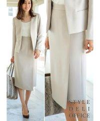 【SD OFFICE】Wフェイスラップ風スカート/Made in JAPAN