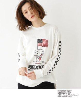 【WEB限定】 ピーナッツ 別注  ASTRO スヌーピー USAフラッグ 袖ロゴ Tシャツ