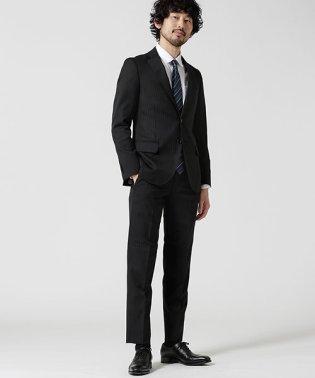 【WEB限定】スーツ+ストライプ+スリム+ブラック