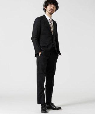 【WEB限定】スーツ+ストライプ+スタンダード+ブラック