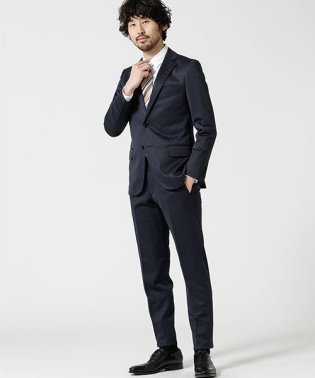 【WEB限定】スーツ+ジャージーストレッチ+スリム+ネイビー