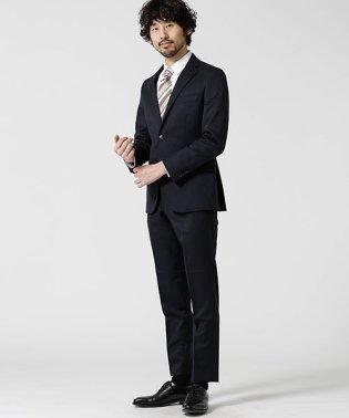 【WEB限定】スーツ+ソリッド+スリム+ネイビー