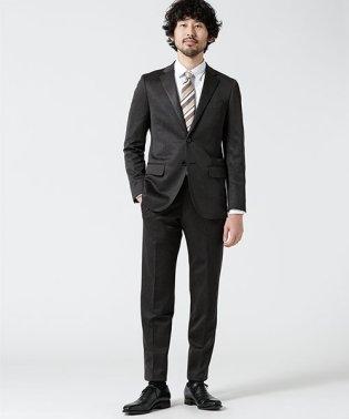 【WEB限定】スーツ+ジャージストレッチ+スリム+グレー