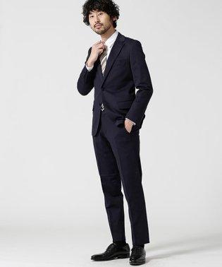 【WEB限定】スーツ+ジャージストレッチ+スタンダード+ネイビー