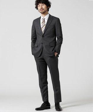 【WEB限定】 スーツ+ストライプ+スタンダード+グレー