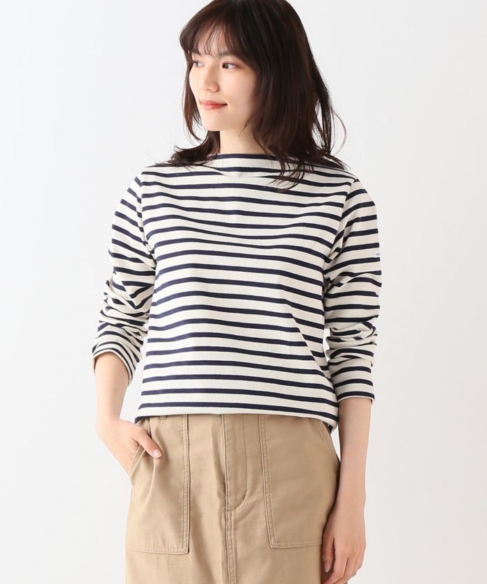 【ORCIVAL/オーシバル】 COTTON LOURD REGULAR STRIPE:カットソー