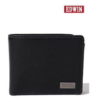 【EDWIN】エドウィンダークメタルプレート二つ折り財布