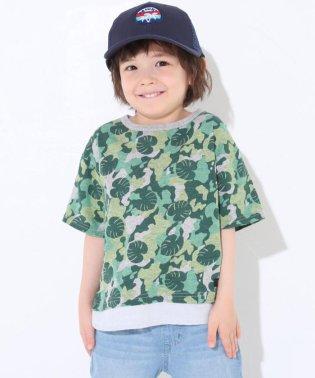天竺+ダンガリー迷彩BIGTシャツ
