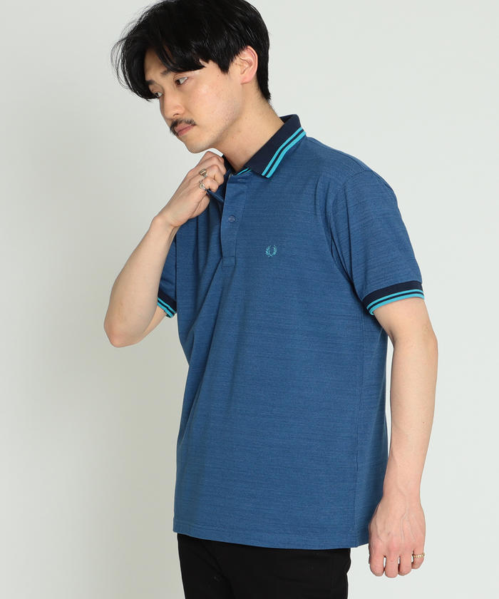 FRED PERRY × BEAMS / 別注 白芯鹿の子 ダブルカラー ポロ