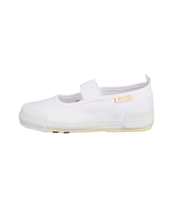 (moonstar/ムーンスター)ムーンスター キャロット 上履き 上靴 スクール 男の子 女の子 室内履き TKHS−CR11/キッズ ホワイト