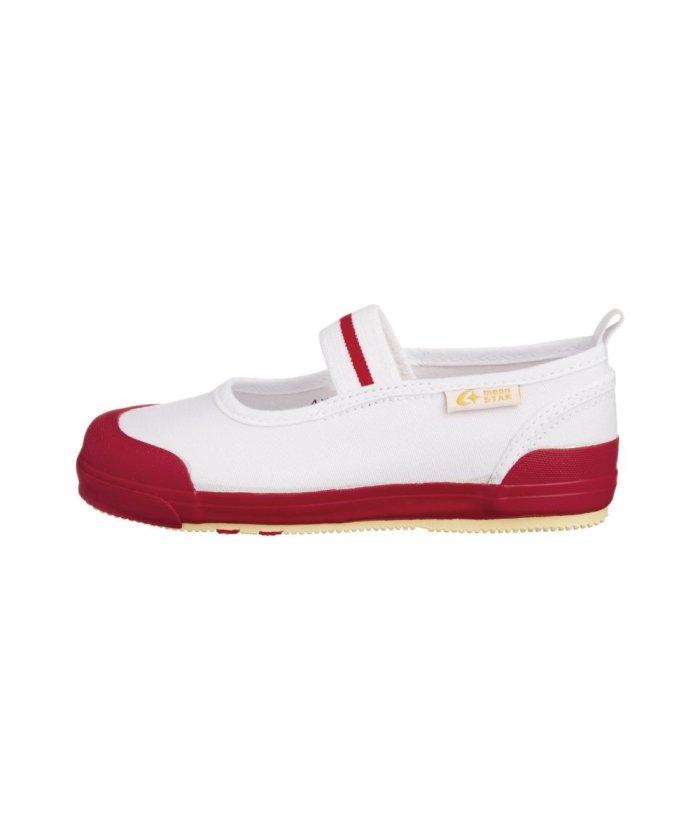 (moonstar/ムーンスター)ムーンスター キャロット 上履き 上靴 スクール 男の子 女の子 室内履き TKHS−CR11/キッズ レッド