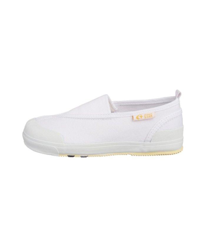 (moonstar/ムーンスター)ムーンスター キャロット 上履き 上靴 スクール 男の子 女の子 室内履き TKHS−CR12/キッズ ホワイト